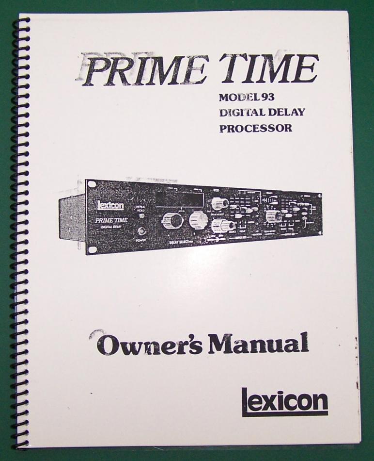 lexicon model 93 prime time complete service manual rh studioelectronics biz lexicon mx200 owners manual lexicon mx200 owners manual