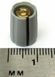 Knob T9/B10-004-GRY-L Gray tapered collet knob with black line, 9mm top,  10mm bottom, 4mm Shaft size, for SSL and other gear parts