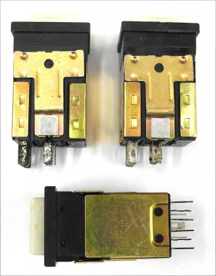 Lot Of 3 Switchcraft PL206206 Push-Lite DPDT Momentary Twin Lamp Switches SW