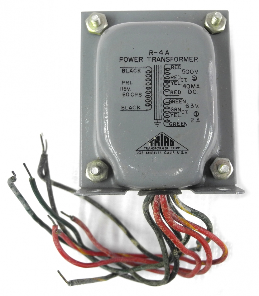 Triad R-4A 500VCT 6.3VCT Power Transformer For Tube Gear, Wires Need ...