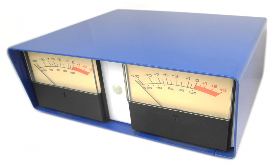 Quot Desktop Enclosure With Stereo 4 Trimmable Vu Meters 1 4