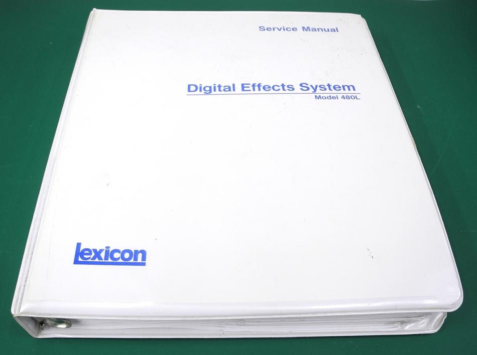 lexicon 480l digital effects service manual in 3 ring binder w rh studioelectronics biz lexicon 480l reverb manual lexicon 480l manual pdf