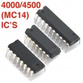 4000 and 4500 Series (MC14) CMOS Logic IC's