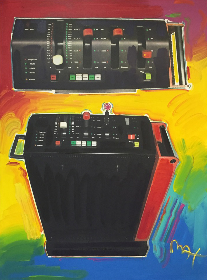 EMT 250 Painting by the Pop Artist Peter Max (courtesy Gary Ladinsky)